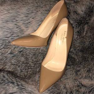 Kate Spade nude patent leather pumps heels sz 7.5